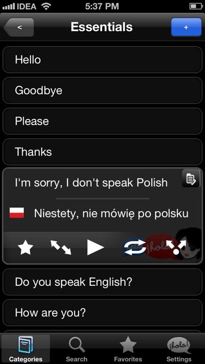 Lingopal Polish LITE - talking phrasebook