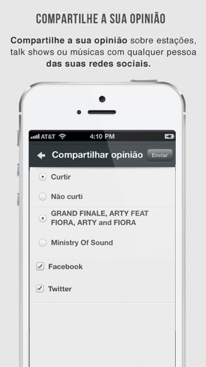 OneTuner Pro Radio Player for iPhone, iPad, iPod Touch - tunein to 65 gêneros! Screenshot
