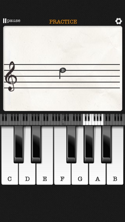 Note Trainer - sight reading for piano screenshot-3