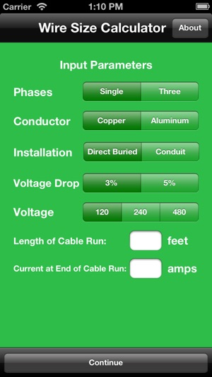 Paige agwire wire size calculator on the app store screenshots greentooth Images