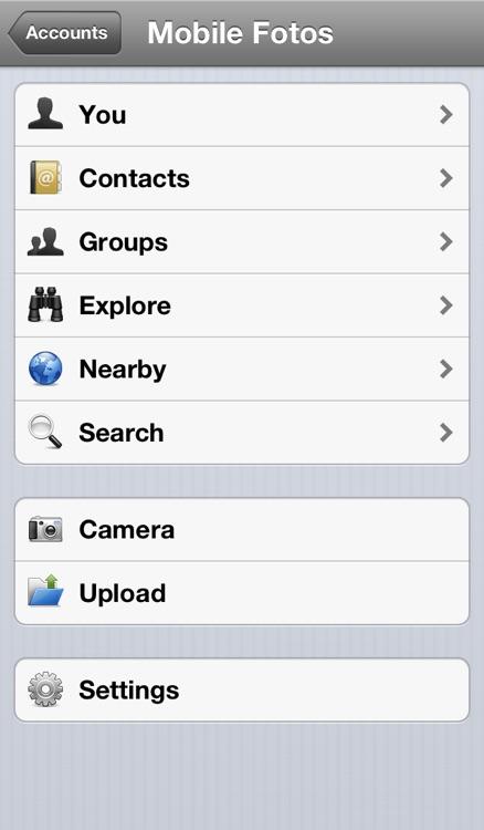 Mobile Fotos • Flickr Browser & Uploader