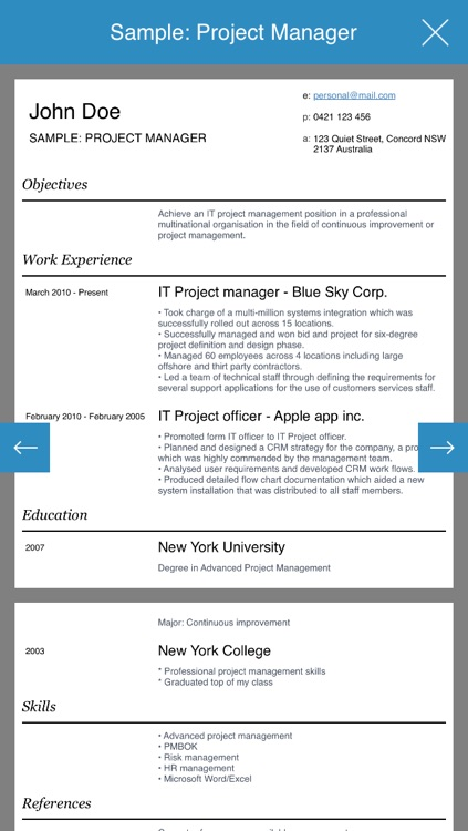 Resume design studio - Professional and stylish resumes designer screenshot-3