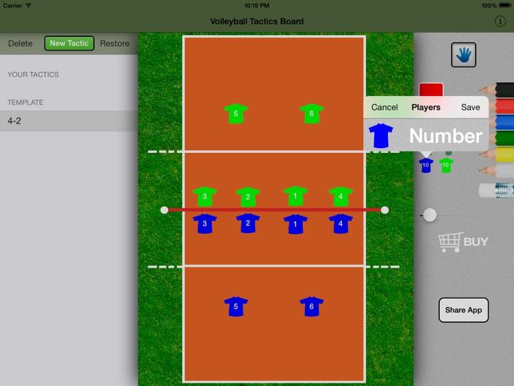 Volleyball Tactics Board screenshot-3
