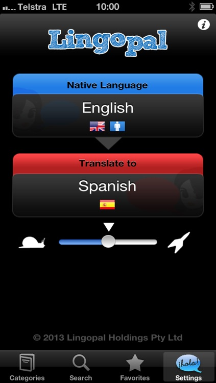 Lingopal Spanish LITE - talking phrasebook