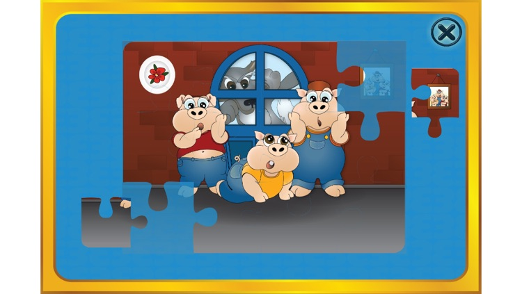 The 3 little pigs - Cards Match Game - Jigsaw Puzzle - Book (Lite)