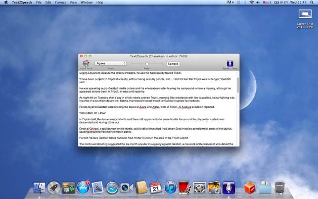 Text2Speech on the Mac App Store