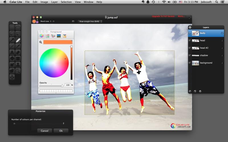 Colar Lite - an Advanced Image Editor скриншот программы 4