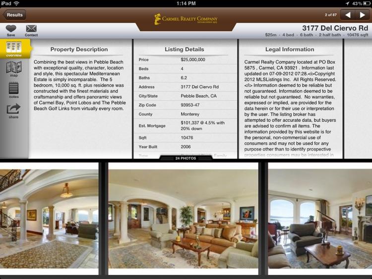 Carmel Realty for iPad
