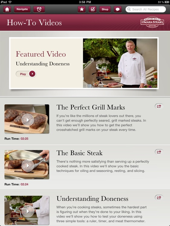 Omaha Steaks Steak Time HD screenshot-4
