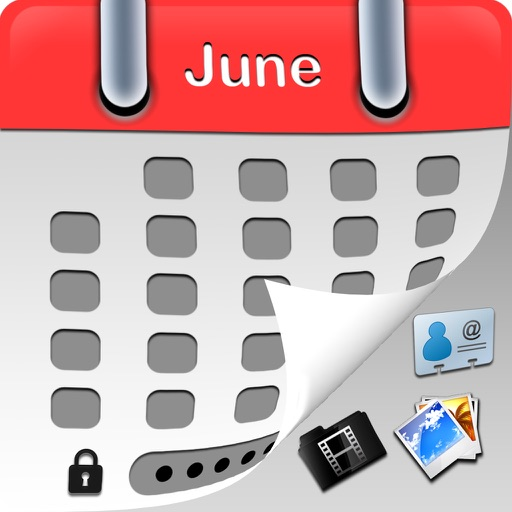 MyCalendar TopSecrete Free - Hide and lock private photo,video and secret info + protected by BirthDay Calendar iOS App