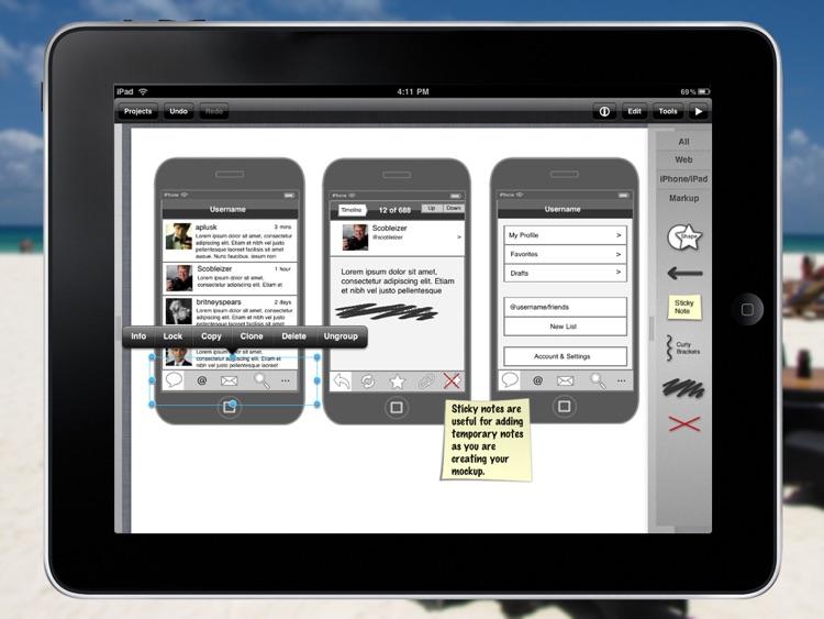 iMockups for iPad