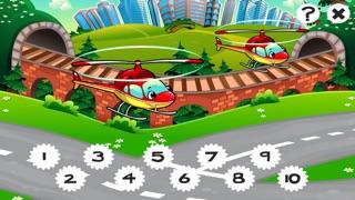市の自動車について子供の年齢2-5のための123のゲーム: カウントを学ぶ 数字カー、レースカー、バス、トラック、飛行機、通りに1月10日。幼稚園、保育園や保育所のためにのスクリーンショット5