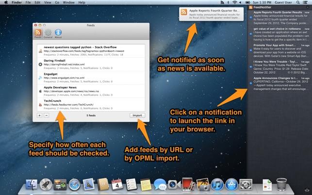 Feed Notifier App for Mac on App Store
