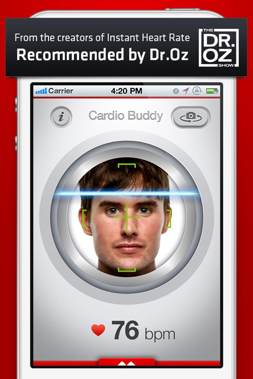 Cardio Buddy - Touchless Camera Heart Rate Monitor by Azumio screenshot-0