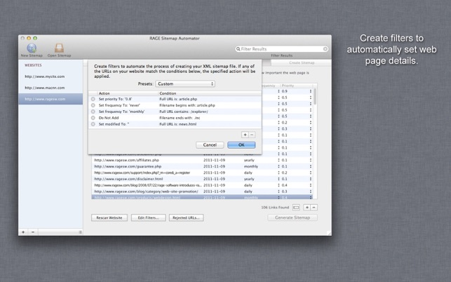 sitemap automator on the mac app store