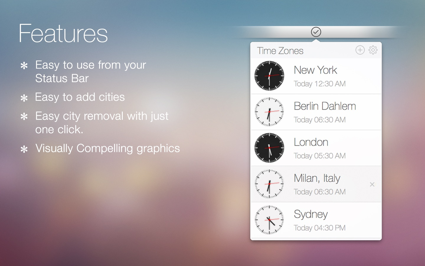 Time Zones on the Mac App Store