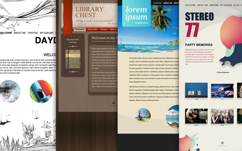 Themes for iWeb Screenshot