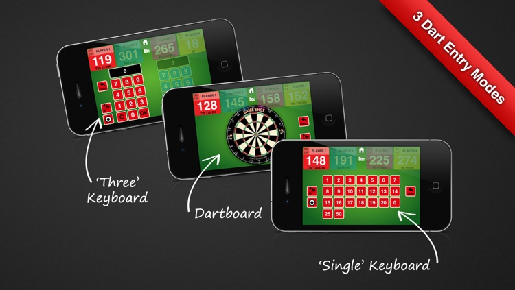 Game Shot Darts Scoreboard