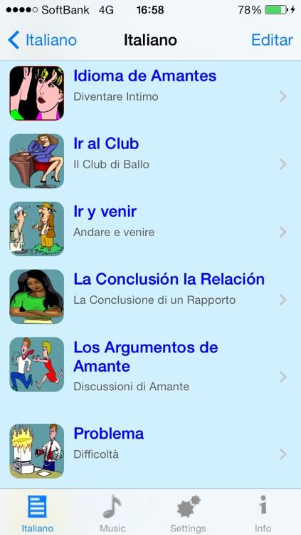 Italiano - Talking Spanish to Italian Translator and Phrasebook