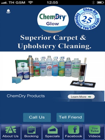 Screenshot of Chemdry Glow