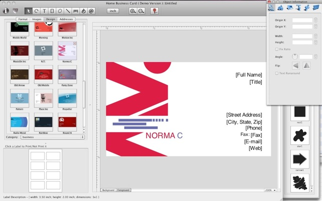 Home business card on the mac app store home business card on the mac app store reheart Gallery