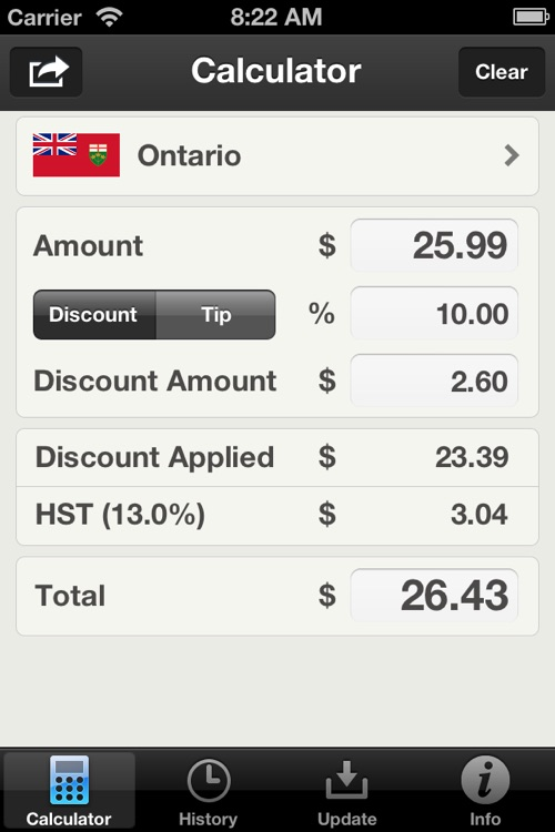 Canadian Sales Tax Calculator Plus