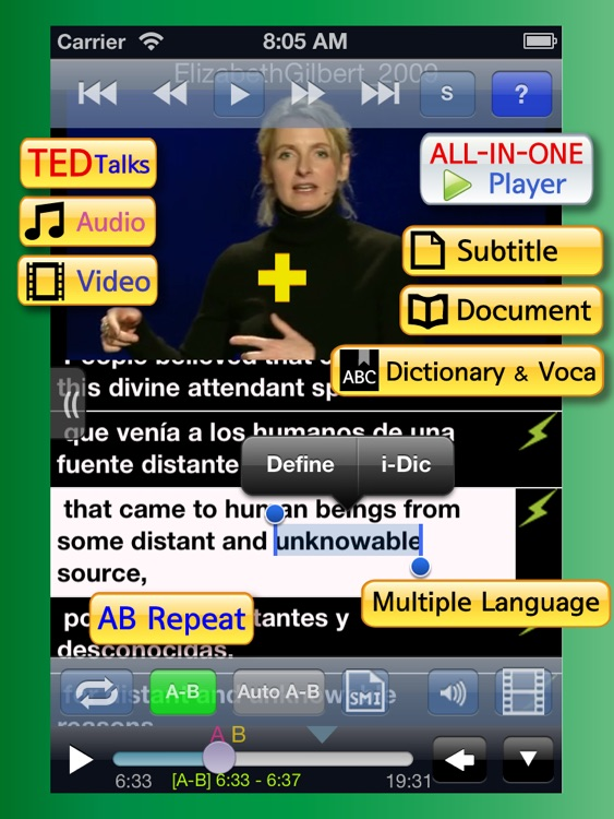 AVDic Player for iPad ( ALL-IN-1 Language Learning   with