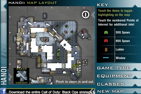 COD Black Ops MP Map App