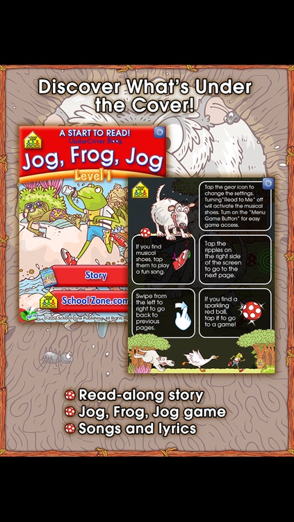 Jog, Frog, Jog - A Start to Read! UnderCover Book from School Zone