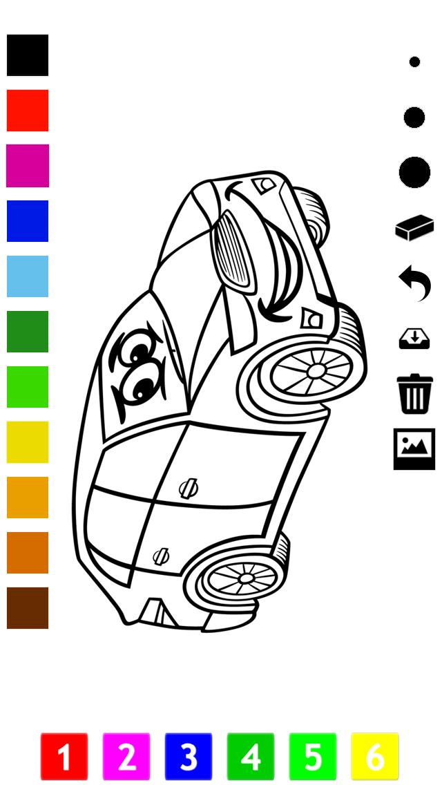 塗り絵の本 子供のための車:レーシングカー、バス、トラクター、トラックなどのような多くの写真とともに。絵を描画する方法:学習するゲームのおすすめ画像4