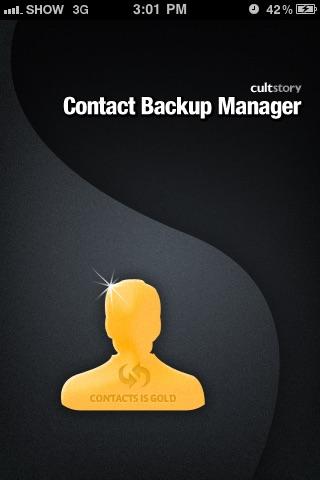 Contacts Backup Management - Contact Manager Screenshot 1