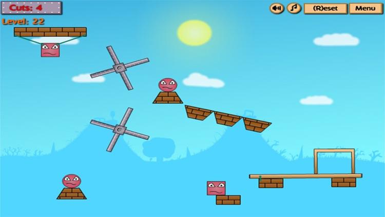 Kick The Red Block : Cut The Wood screenshot-4