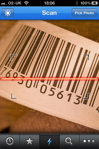Barcode Reader for iPhone (Premium) Screenshot on iOS