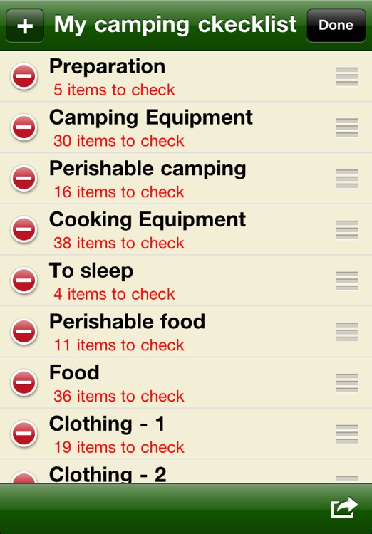 Camping checklist screenshot-3