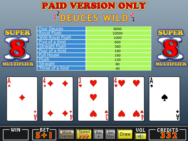 Mojo Video Poker HD screenshot-2