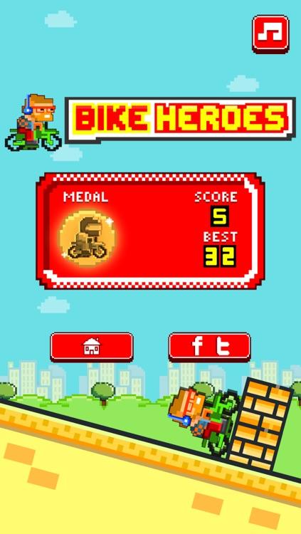 Bike Heroes - Play Free 8-bit Pixel Moto Racing Games screenshot-3