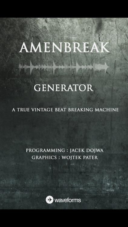 AmenBreak Generator