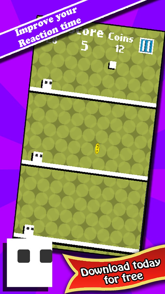 Jump The 3 White Tile : A brain training tap game