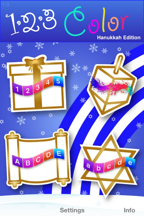 123 Color: Hanukkah Coloring Book (Now With Numbers, Letters, and Colors Spoken in 12 Languages and Dialects)