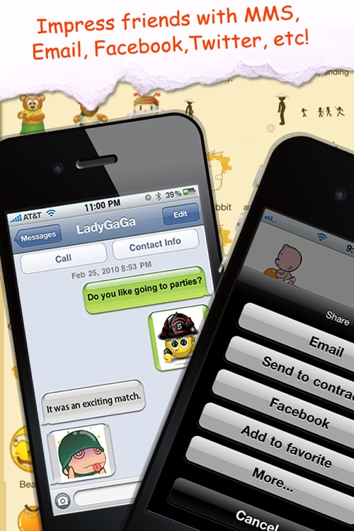 Animated Emoticons™ for MMS Text Message, Email!!!(FREE) screenshot-4