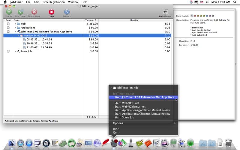 JobTimer скриншот программы 1