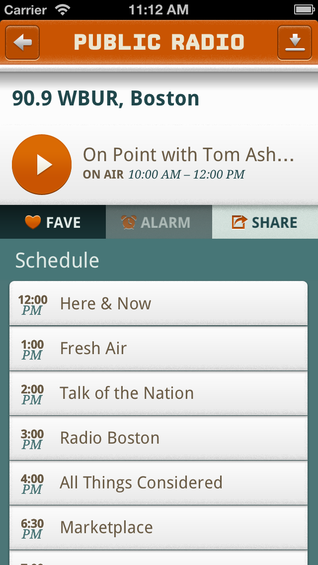 Public Radio Player Screenshot