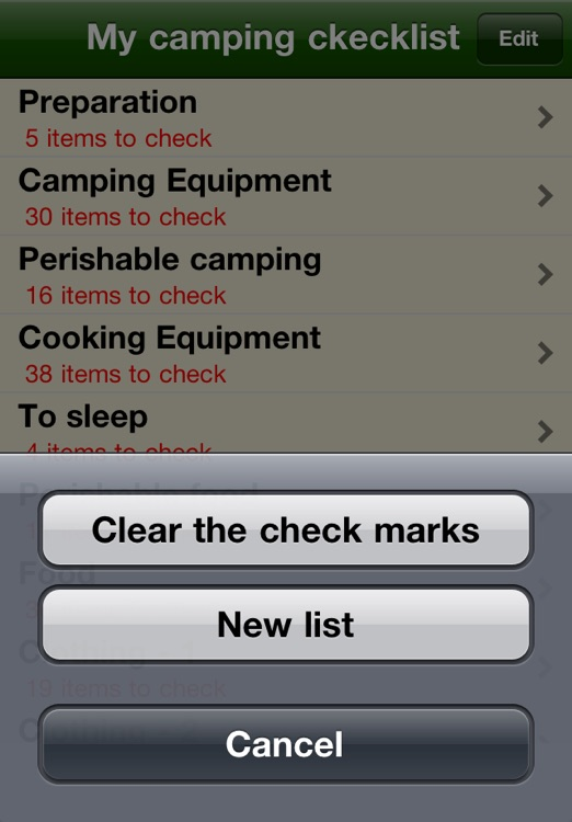 Camping checklist screenshot-2