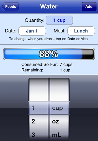 Nutrition Menu - Calorie, Exercise, Weight & Water Tracking iPhone