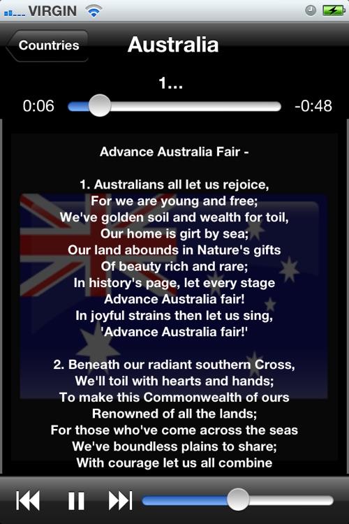 World National Anthems (With Lyrics) screenshot-3