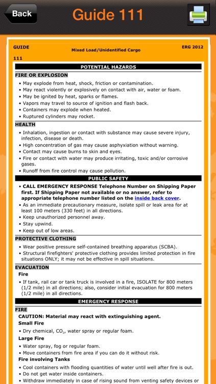 Emergency Response Guidebook 2012 screenshot-3