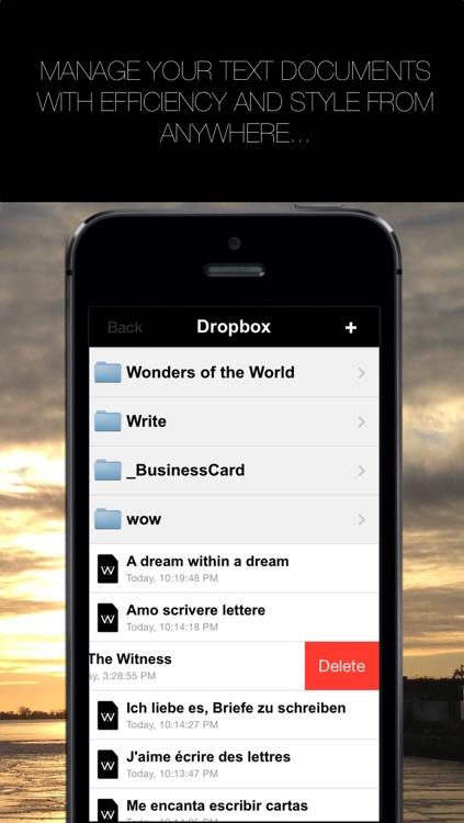 Write for Dropbox and iCloud screenshot-3