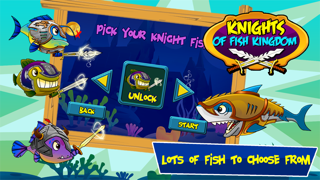Knight of Fish Kingdom Battle Rage  - Newest Games Of Fishies War for kids screenshot two