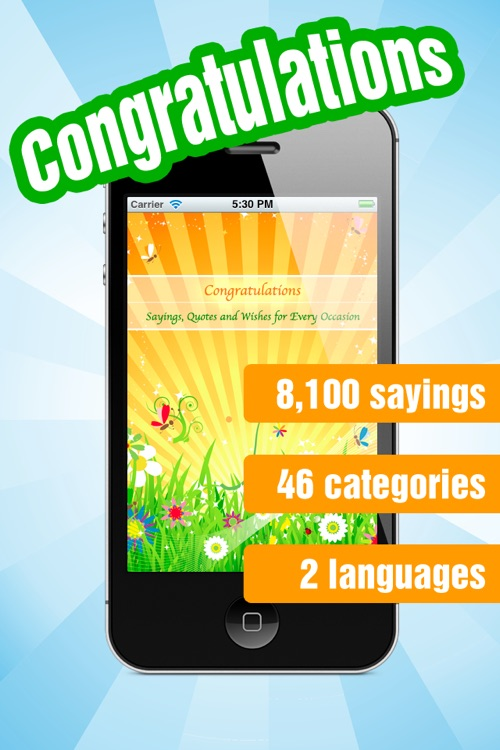 Congratulations - Greetings, Quotes and Wishes for Every Occasion like Easter, Mother's or Father's Day