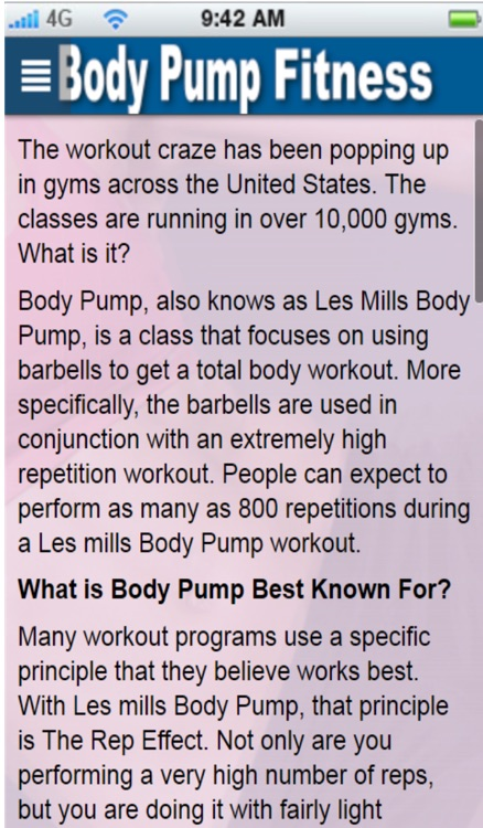Body Pump+:Learn Body Pump Training The Easy Way screenshot-4